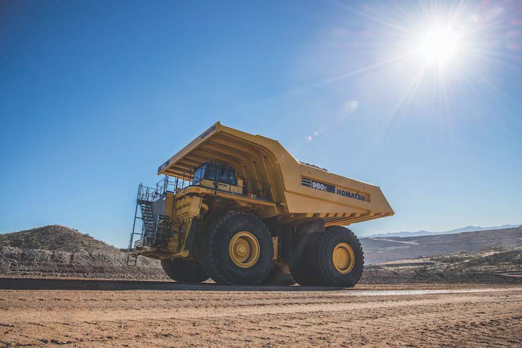 Komatsu claims its autonomous mining trucks have hauled more material than all other companies' vehicles put together