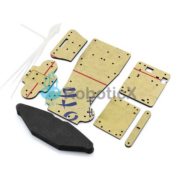 4WD RC Smart Car Chassis -06