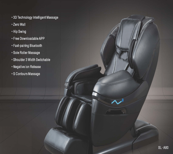 Robotouch Dreamline Intelligent 3-D Zero Gravity Massage Chair With Bluetooth,Android/IOS App,Magnetic Therapy - New Full Featured Luxury Shiatsu Chair - Color Black-674