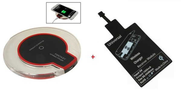 Fantasy Wireless Charger & Wireless Charging Receiver for All Samsung Galaxy Note Edge / N915V / N915P / N915T / N915A other android mobiles(M3 Black)-0
