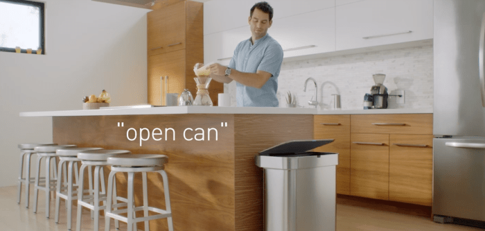 This garbage can robot seen at CES was designed to be cheap and avoid consumer backlash.