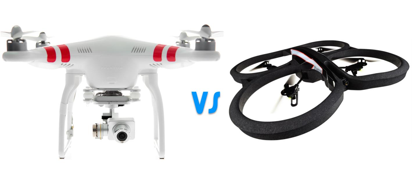 dji phantom vs ar drone quadcopters