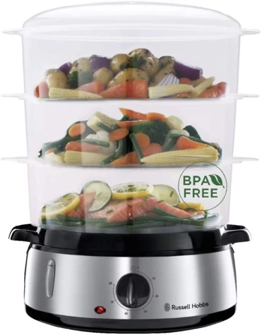 Russell Hobbs 19270-56 Food Steamer Cook@home-19270-56, Silver