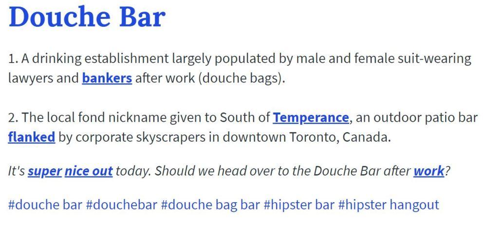 Douche Bar