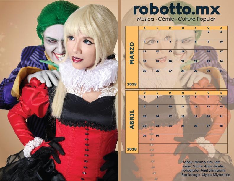 Calendario Robotto 2018
