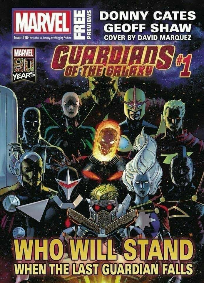 Marvel revela el nuevo equipo de Guardianes de La Galaxia