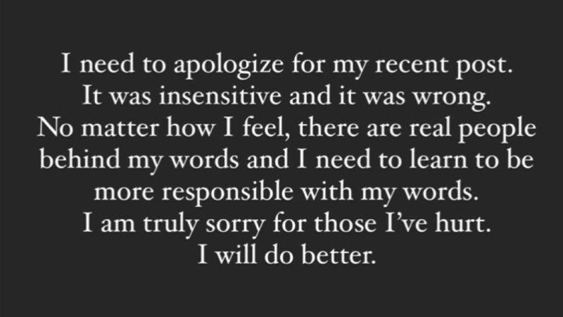 Disculpa de Courtney Love