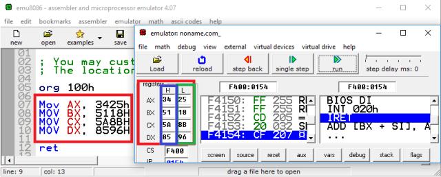EMU8086MovKomut
