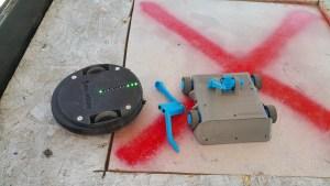 Bots after battle, broken opponent