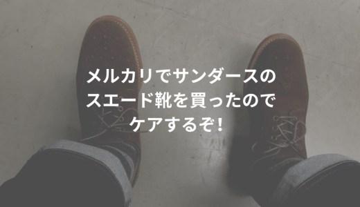 メルカリでサンダースのスエード靴を買ったのでケアする