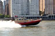 Fire Boat In Action