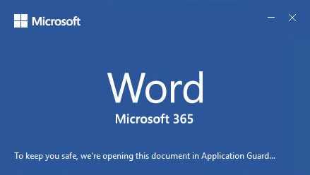 Image of Office Application Splash Screen