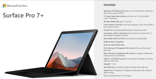 Image of Surface Pro 7+