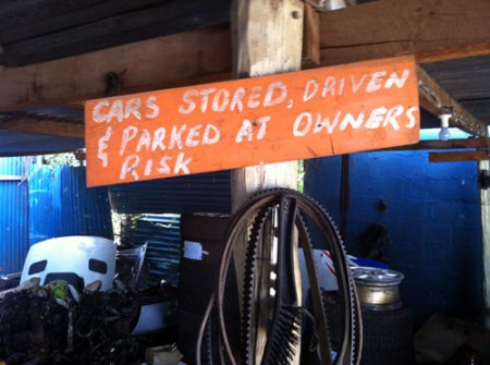 cars stored driven & parked at owners risk by rob rooker gigglingbob