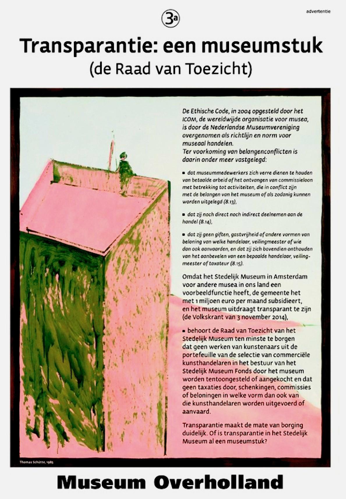 Christian Braun – Museum Overholland (3a) / Transparantie: een museumstuk (de Raad van Toezicht)