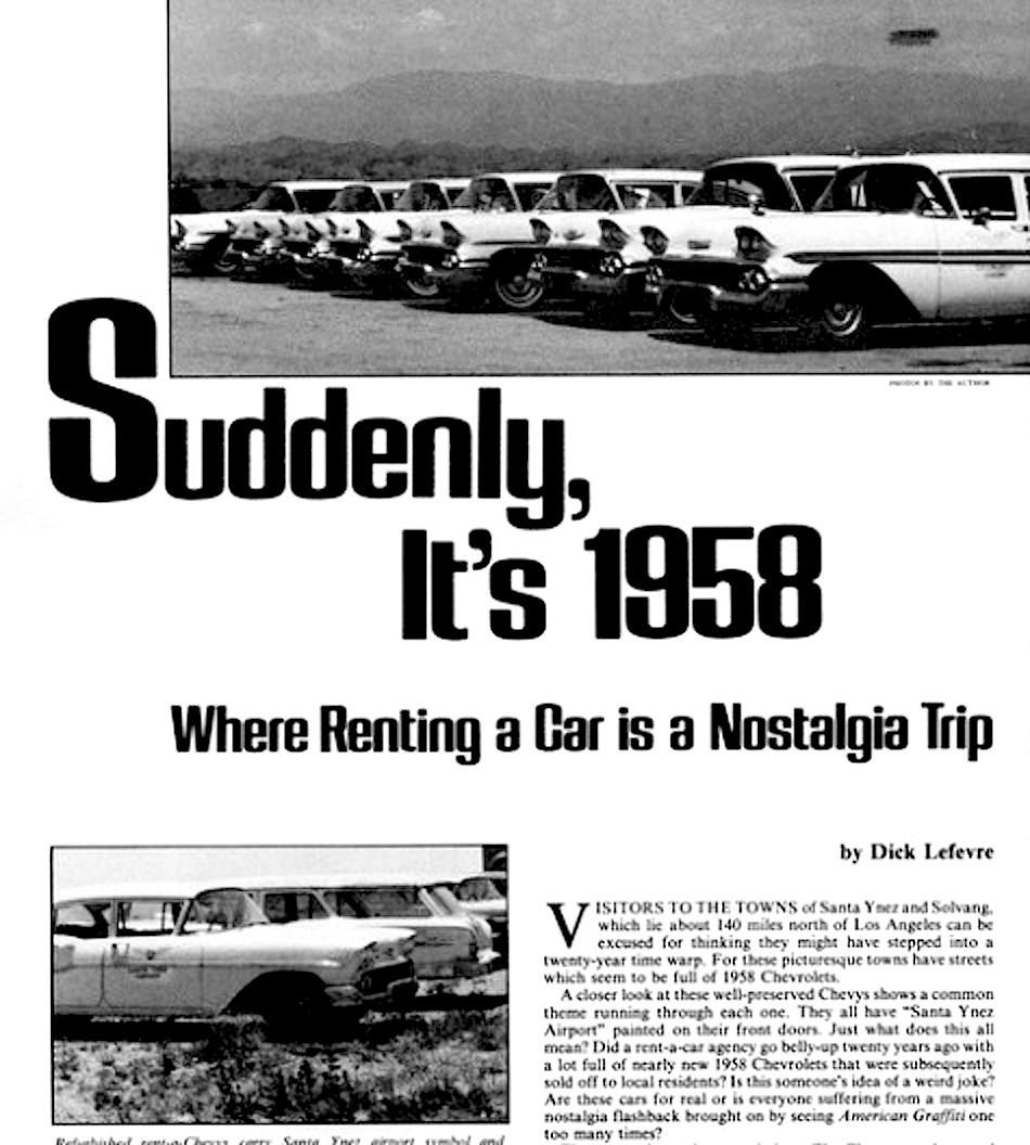 Suddenly, it's 1958