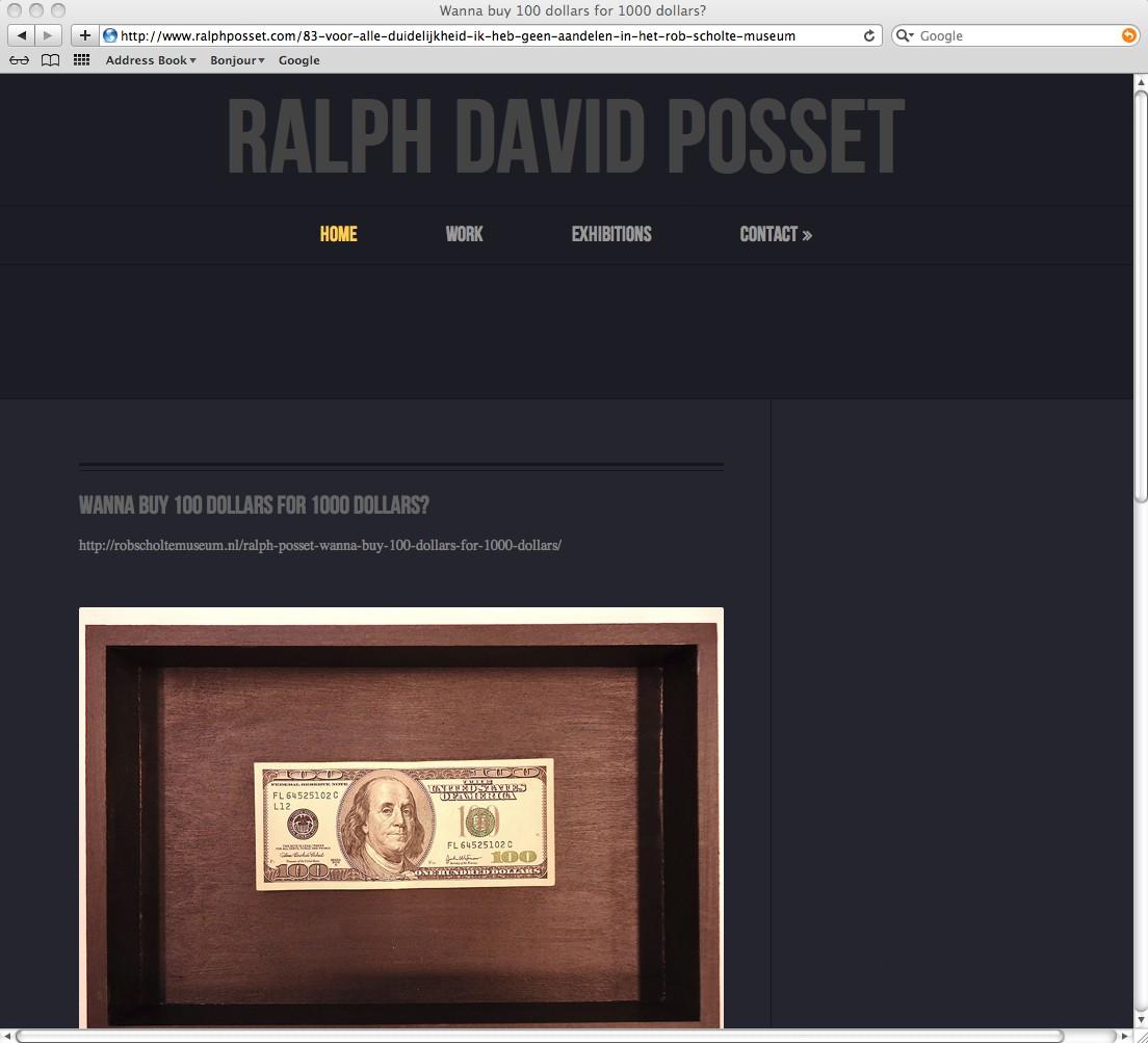 Screenshot Voor alle duidelijkheid ik heb geen aandelen in het Rob Scholte Museum