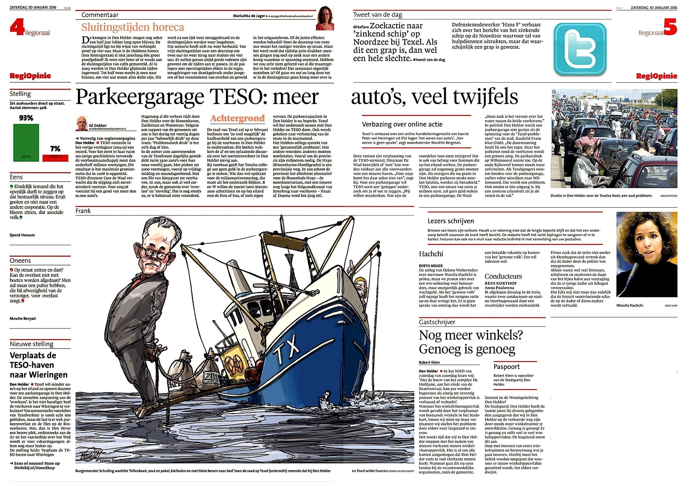 Opinie & Commentaarpagina Helderse Courant, zaterdag 30 januari 2016