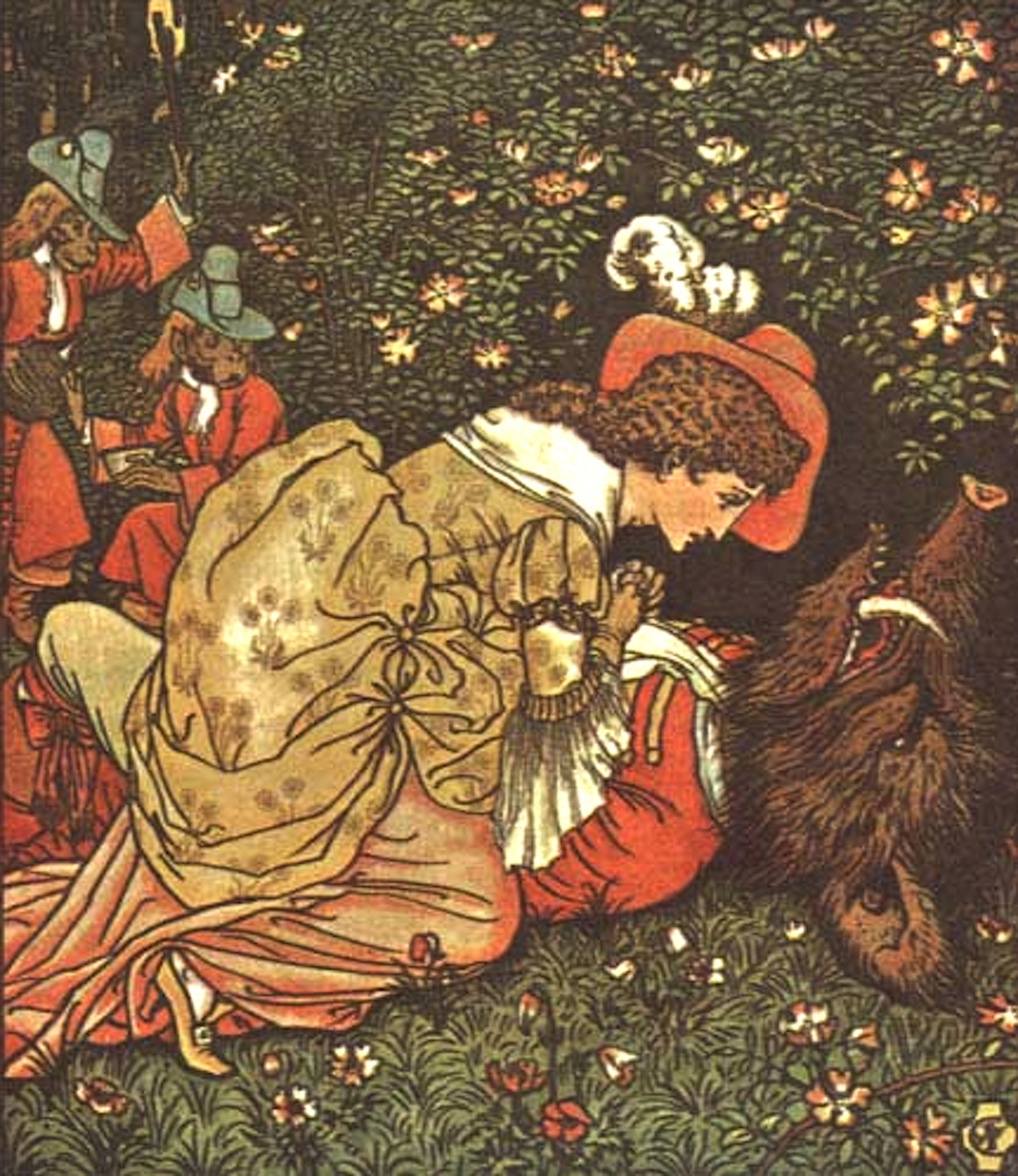 Walter Crane – Illustration for Beauty and the Beast