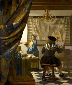Johannes Vermeer - Allegorie op de schilderkunst