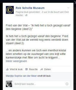 Facebook Rob Scholte Museum