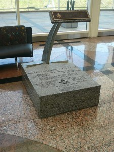 Corner stone at Denver International Airport