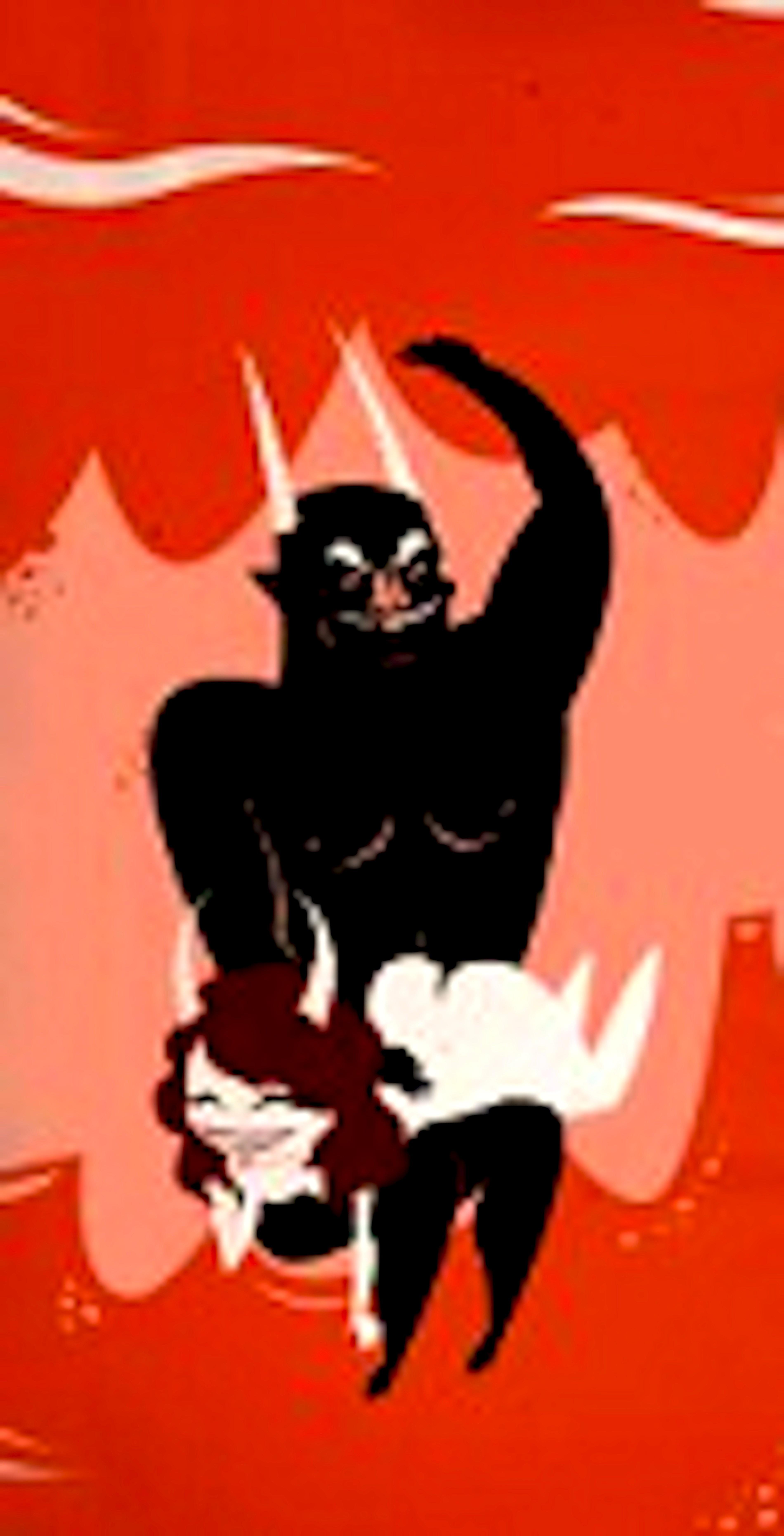 Devil beating his daughter