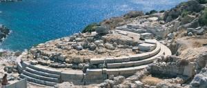 Tempel op Cnidus, waar ooit de Venus van Cnidus van Praxiteles stond