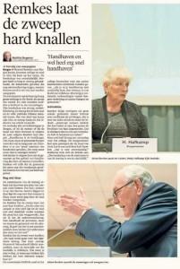 Matthie Bergman - Remkes laat de zweep hard knallen 'Handhaven en wel heel erg snel handhaven', Alkmaarse Courant, 5 maart 2017