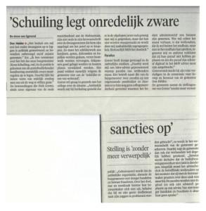 Bo-Anne van Egmond - 'Schuiling legt onredelijk zware sancties op'