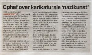 Wichard Maassen, AD, 21 november 2012