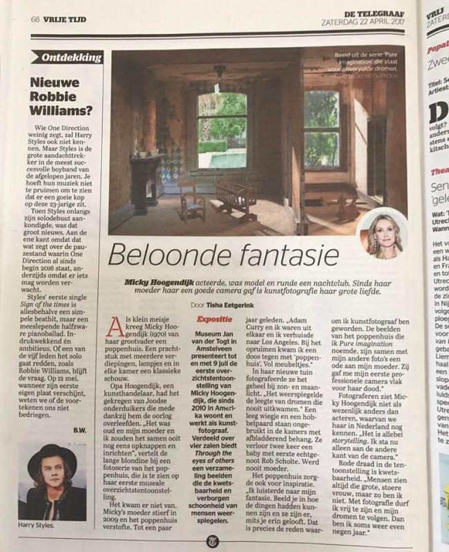 De Telegraaf, zaterdag 22 april 2017