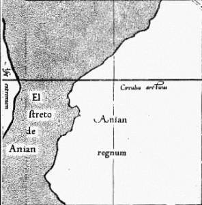 Mercator 1569 Anian regnum