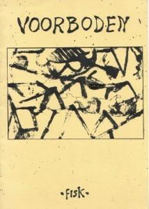 Omslag dichtbundel 'Voorboden' met omslag van Hewald Jongenelis