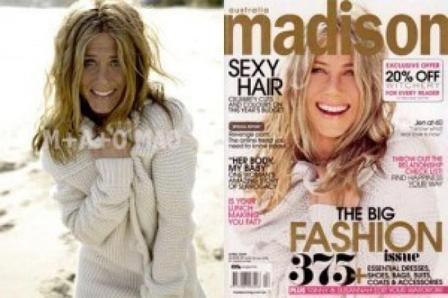 un-Photoshopped version of Fennifer Aniston