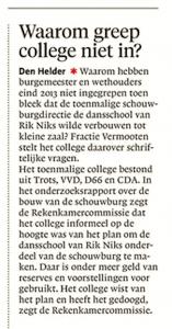 Noordhollands Dagblad, 27 november 2017