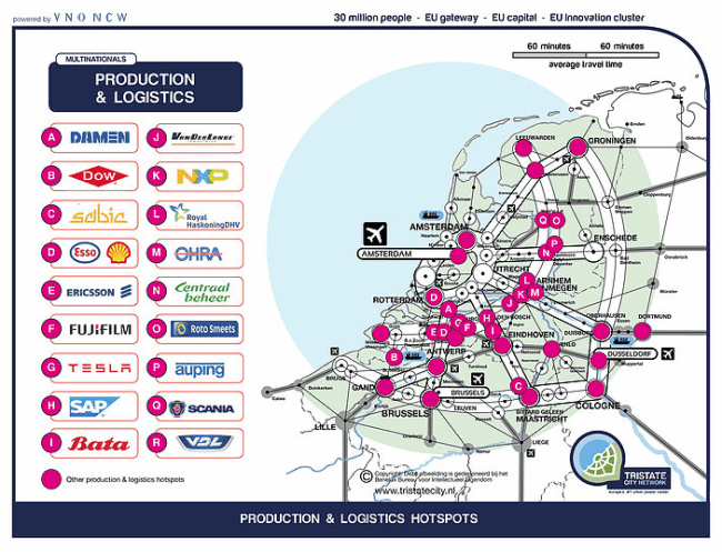 Production & logistics hotspots