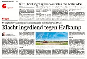 Alkmaarse Courant, 8 december 2017