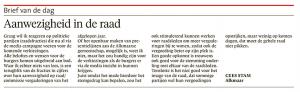 Alkmaarse Courant, 11 januari 2017