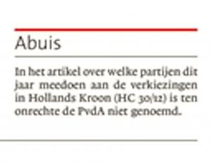 Helderse Courant, 3 januari 2017