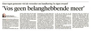 Alkmaarse Courant, 18 januari 2018