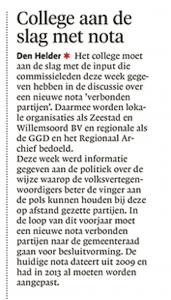 Helderse Courant, 12 januari 2018