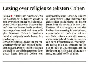 Alkmaarse Courant, 15 februari 2018