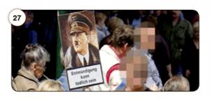 Abbildung 27 Der Warnhinweis als Protest-Botschaf
