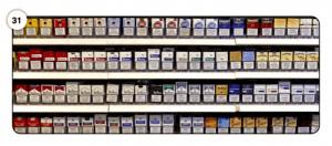 Abbildung 31 Foto eines Zigaretten-Verkaufsregals