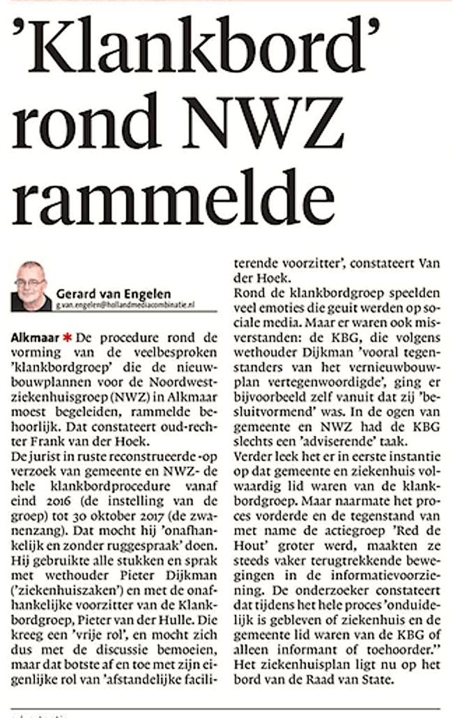 Alkmaarse Courant, 21 april 2018