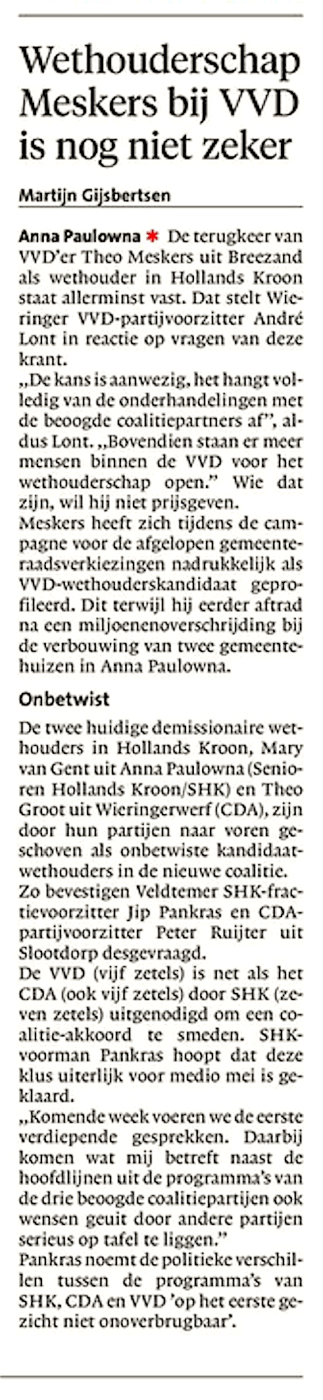 Schager Courant, 17 april 2018