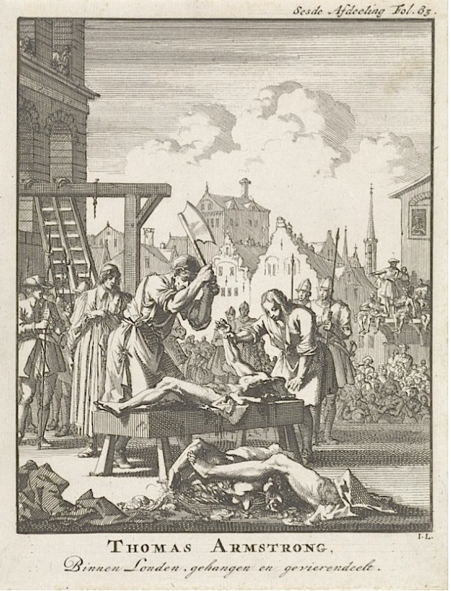 Execution of Thomas Armstrong, 1683