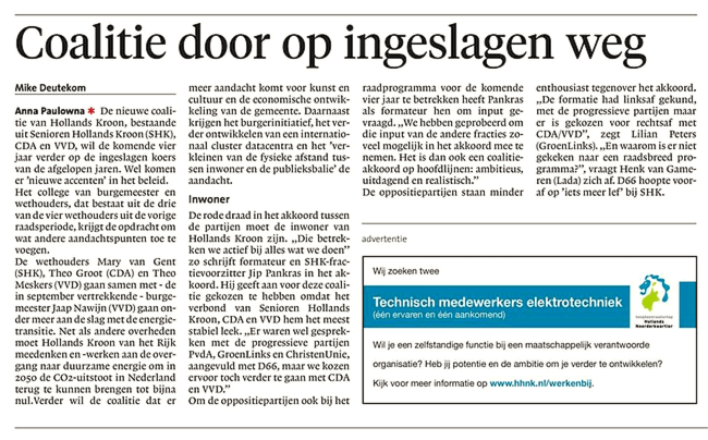 Schager Courant, 3 mei 2018