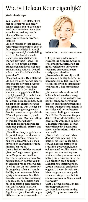 Helderse Courant, 30 juni 2018